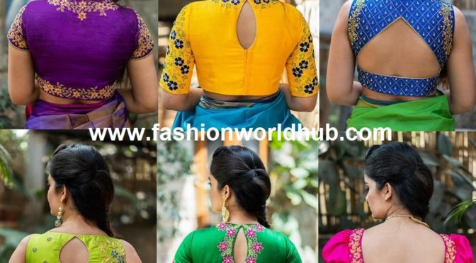 Mind blowing Hand embroidered blouse designs ( BUY ONLINE)