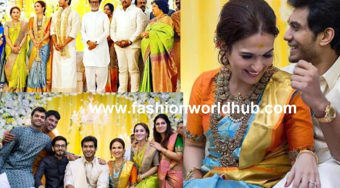 Soundarya Rajnikanth's pre-wedding reception