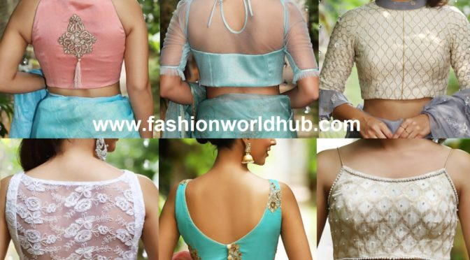 Stylish Party Wear Saree Blouse Designs by House of blouse!