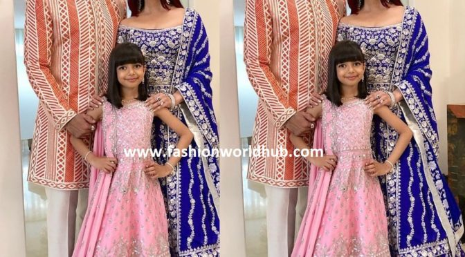Abhishek, Aishwarya and Aaradhya at Akash Ambani and Shloka Mehta's Wedding!