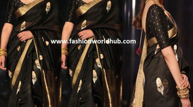 Aditi Rao Hydari in black handloom saree!