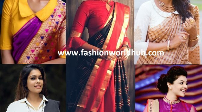 Collar Blouse Designs: The Unlimited Indo- Western look.