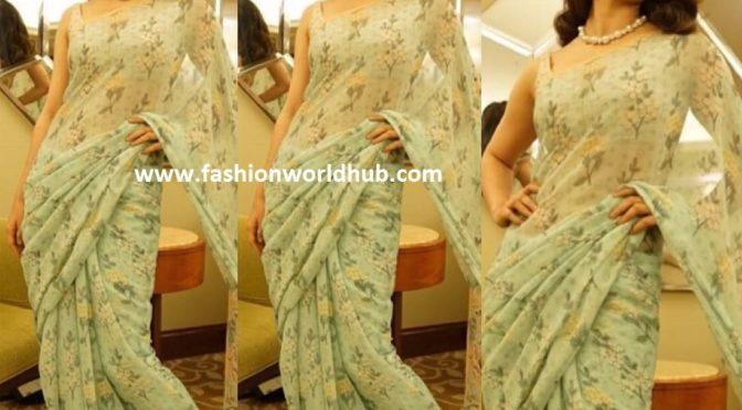 Kangana Ranaut in Floral printed saree!