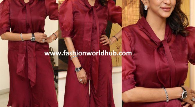 Lakshmi Manchu in Maroon sharara Suit!