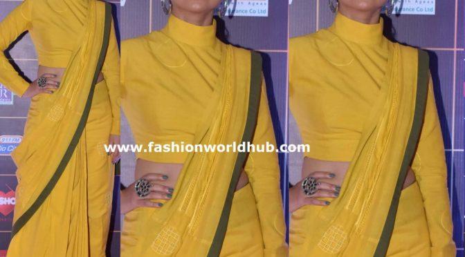 Rasika Dugal in a yellow saree