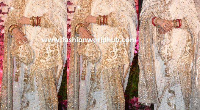 Rekha in Manish Malhotra at Akash Ambani wedding reception