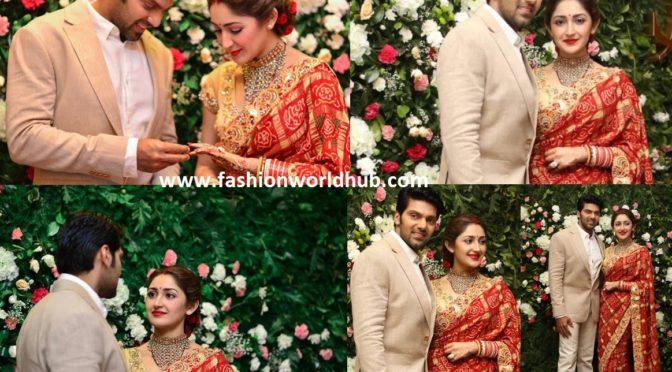 Arya and Sayyeshaa Wedding Reception photos!