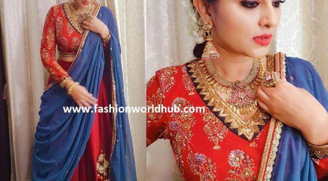 Sneha Prasanna in Geetu haute couture!