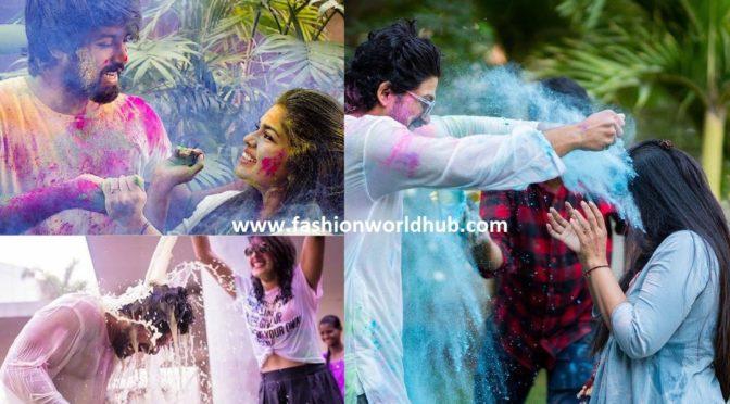 Sreeja , kalyan & allu Arjun family Holi pics ( FEW MORE)
