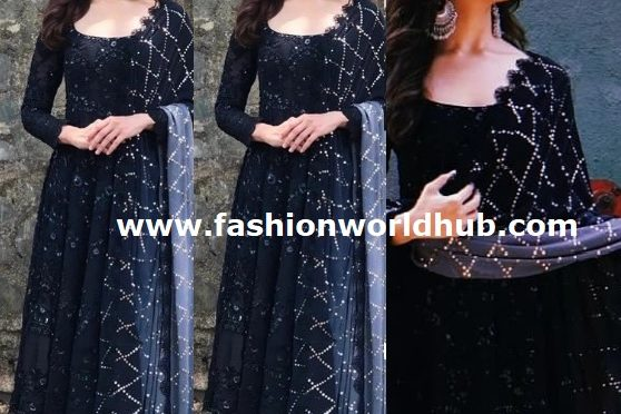 Alia Bhatt in Black Anarkali by Manish Malhotra