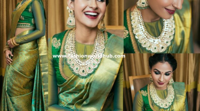 Andrea Jeremiah in a traditional saree
