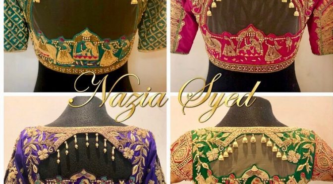 Bridal work blouses by Nazia Syed!