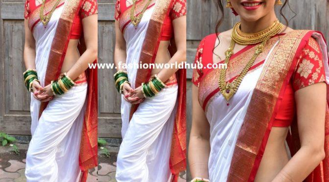Amruta Khanvilkar traditional look!