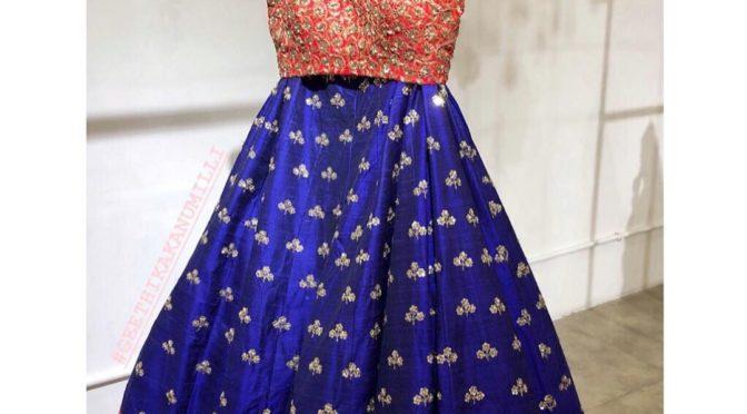 Beautiful Lehenga honi collections by Geethika kanumilli!