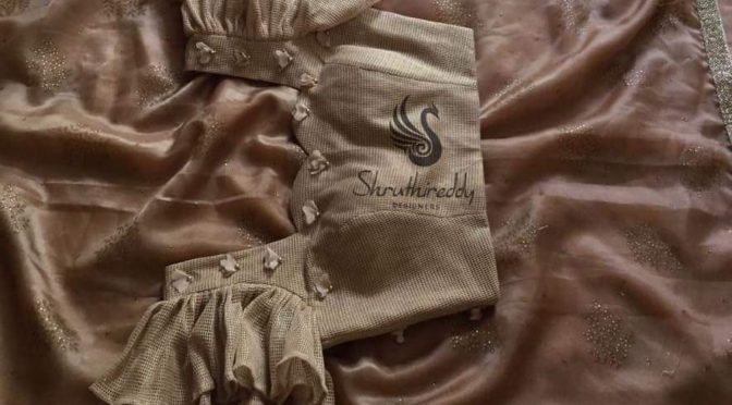 Designer sarees with designer blouses by Shruthi reddy designers!