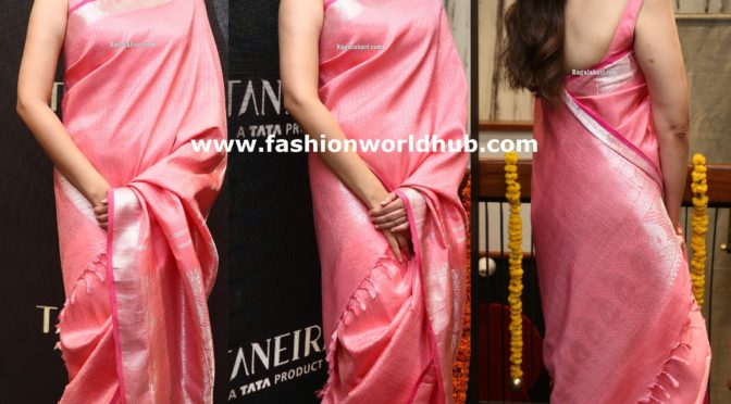 Aditi Rao Hydari in Pink Silk saree!