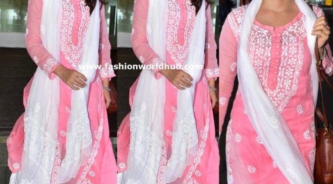 Fatima Sana Shaikh in Pink Kurta palazoo suit!