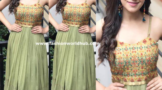 Rukshar Dhillon in green Maxi dress by Label Anushree!