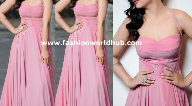 Aksharaa Haasan in Pastel pink corset dress!