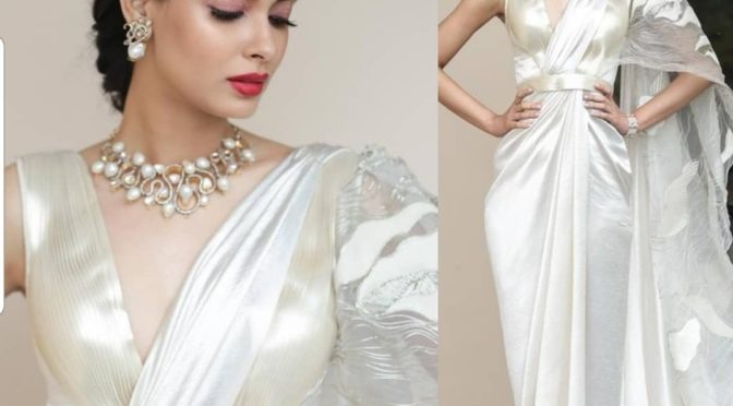Diana Penty in Amit Aggarwal saree gown!