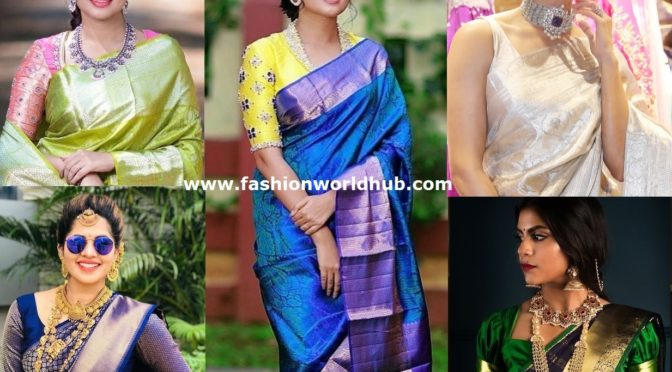 Splendid blouse designs for your favorite Pattu sarees