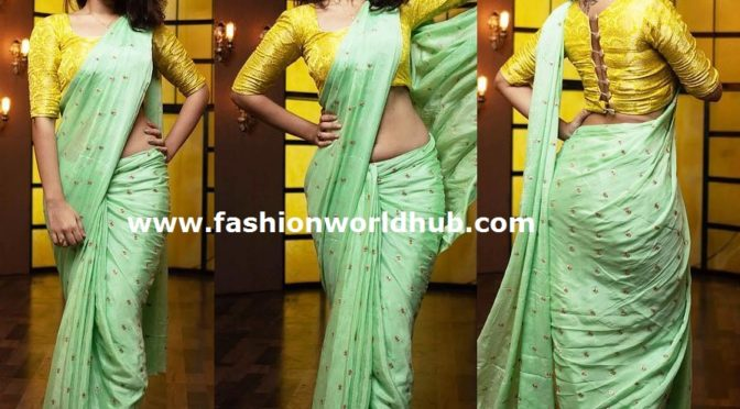 Deepthi Sunaina saree look!