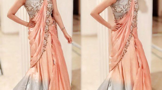 Divyanka tripathi in Designer saree