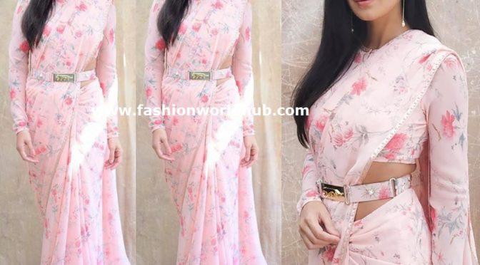 Katrina Kaif in floral printed saree by Sabyasachi!