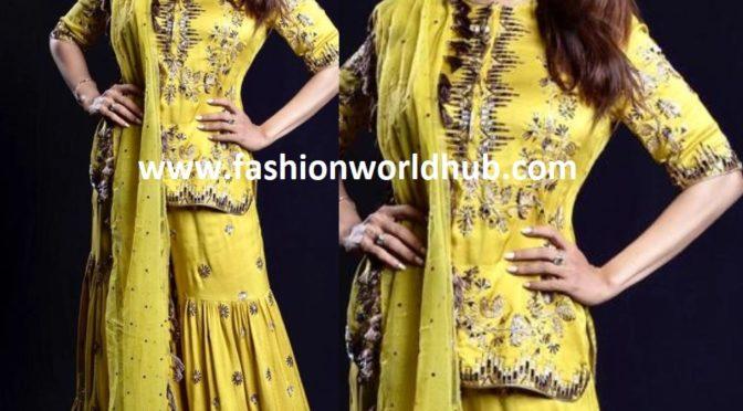 Madhuri Dixit in a yellow sharara
