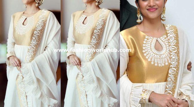 Megha Akash in Anarkali suit by Ashwini Reddy