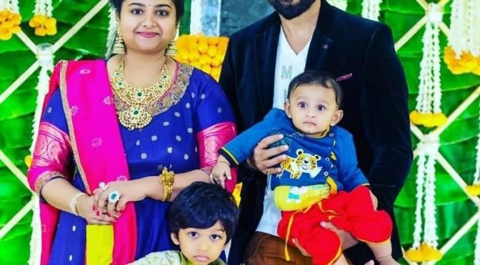 Actor Gopi chand Family pic!