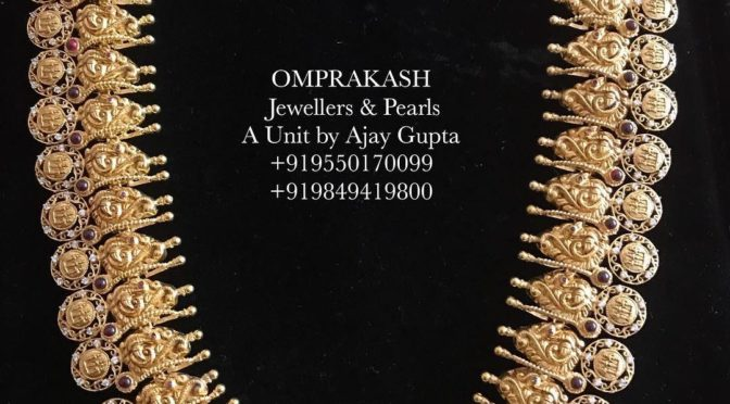 Mind blowing Kasulaperu haram and Bottu haram by Omprakash Jewels!