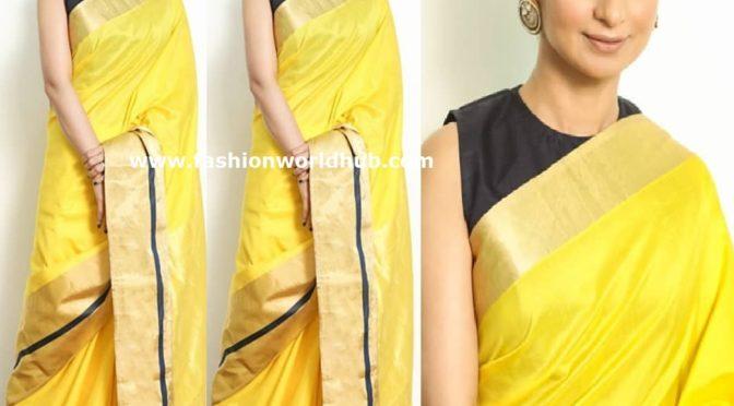 Rasika Dugal in Yellow silk saree!