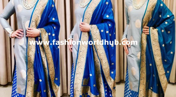 Raveena Tandon in blue Sharara Suit!
