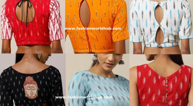 Ready made Ikat Cotton Blouse Designs – Buy Online