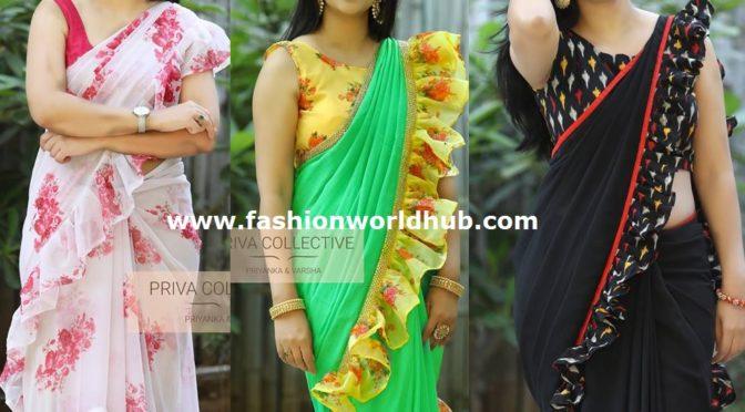 Trending Ruffle sarees!