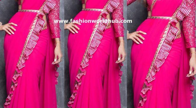 Shilpa shetty in pink saree!