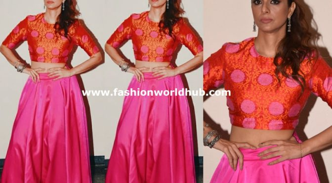 Tabu in a Pink Long skirt!