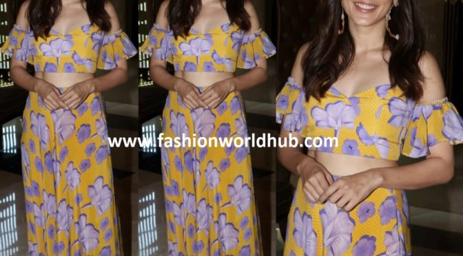 Taapsee Pannu in Floral printed Palazzo suit!