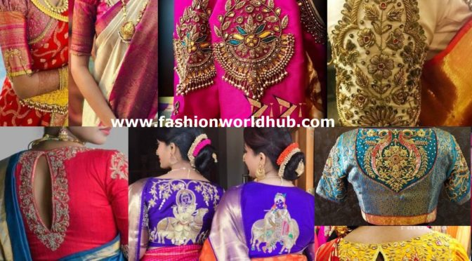 Beautiful Traditional Blouse Designs For Pattu Sarees!