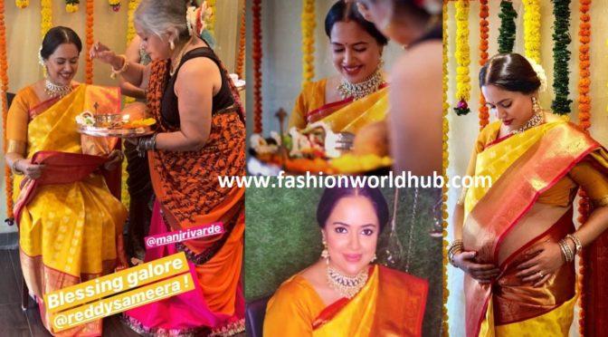 Actress Sameera reddy Baby shower photos!!