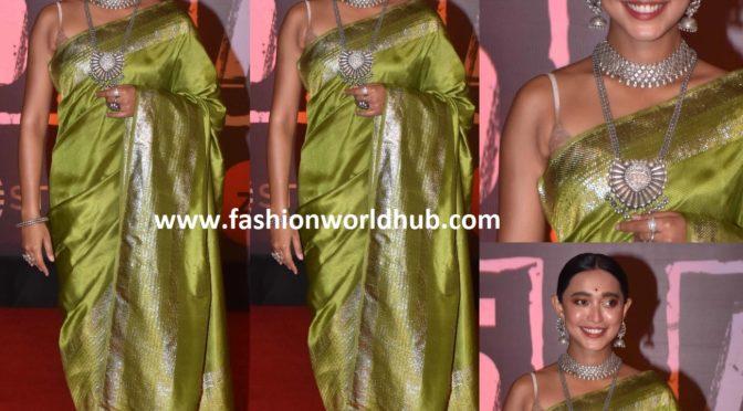 Sayani Gupta in a banarasi silk saree!