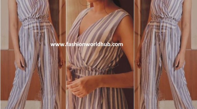 Shivathmika in Jumpsuit at Promotions of Dorasani