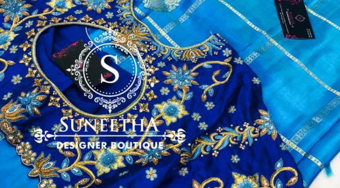 Mind blowing blouse designs by Suneetha designer boutique!
