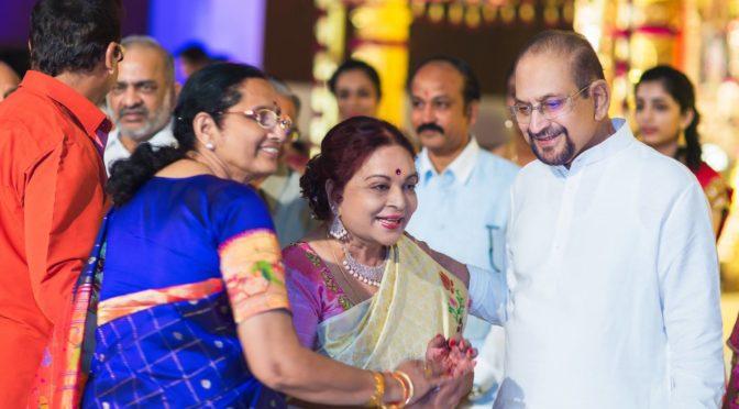 Actress Vijaya Nirmala with her family photos