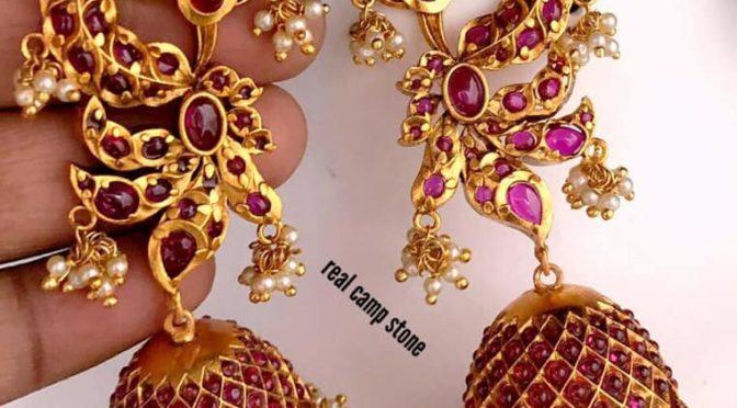 One gram gold jumkha designs!