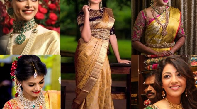 Tremendous Different Ways In Which You Can Wear A Gold Saree!