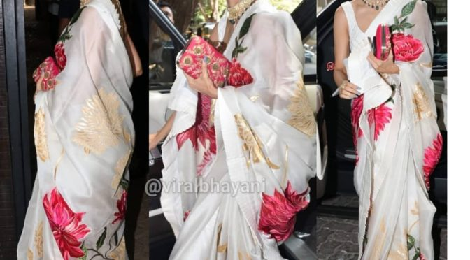 Malaika Arora in a floral saree