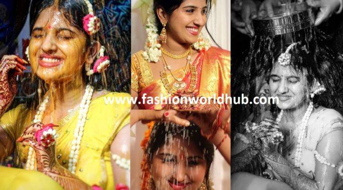Meghana Lokesh Pellikuthur and Pasupu ( Haldi) function photos!