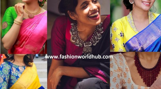 Trending Mix and match your blouse with sarees!